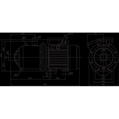 Насосная станция с многоступенчатым насосом Wilo MC 305-DM/IE3