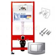 Инсталляция для подвесного унитаза TECEbase 4 в 1 с кнопкой смыва TECEambia, 9400005