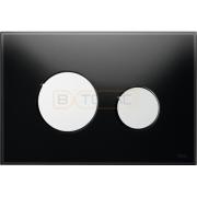 Кнопка смыва TECE Loop черное стекло кнопки хром