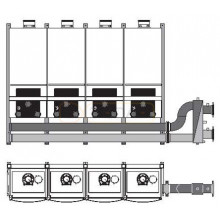 Каскадный блок Buderus для 5 котлов для GB162/ZBR TR5,спина к спине