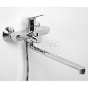 Смеситель WasserKRAFT Lippe 4502L для ванны с длинным поворотным изливом 350 мм, хром, 4502L