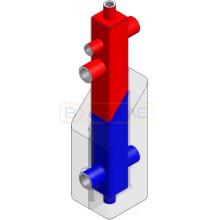 Вертикальный коробчатый гидроразделитель  80/60