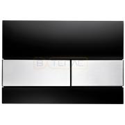Кнопка смыва TECE Square черное cтекло кнопки сатин