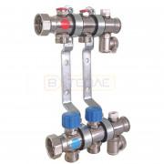 """Коллектор TECE для систем отопления с термостатическими клапанами, 1"""" x 3/4"""", 2 контура, 340152"""
