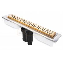 Душевой лоток BERGES В1 Antik 800, золото глянец, вертикальный выпуск S-сифон D50/105мм H30/135мм