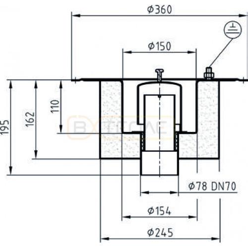 Дренажный трап с вертикальным штуцером BASIKA л/c 1,4 DN 70