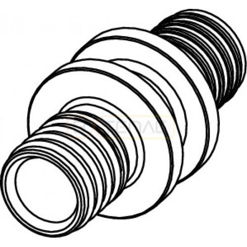 Соединение TECEflex труба-труба 50 x 50, бронза