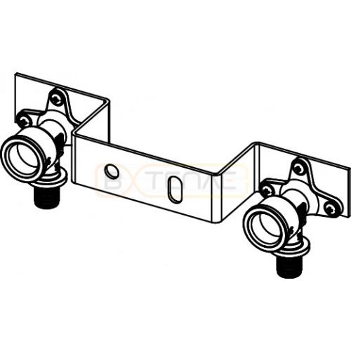 """Монтажный комплект TECEflex для смесителя с 2 водоразетками 16 x 1/2"""", бронза 720550"""