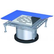 Надставной элемент для трапа BASIKA с прикручиваемой рамкой 200х200, 313 30 35