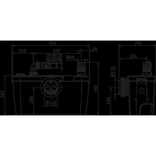 Напорная установка Wilo HiSewlift 3-15