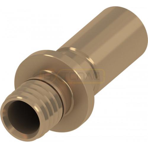Адаптер TECEflex на медную или стальную трубу 20 x 18, пресс или пайка, бронза