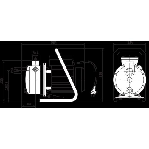 Насосная станция с одноступенчатым насосом Wilo WJ 202 EM