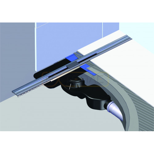 Душевой лоток BERGES SIMPEL 1000, матовый хром, боковой выпуск S-сифон D50 H60