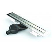 Душевой лоток BERGES В1 Antik 300, матовый хром, боковой выпуск S-сифон D50 H60, 090121