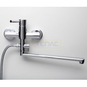 Смеситель WasserKRAFT Main 4102L для ванны с длинным поворотным изливом 350 мм, хром, 4102L