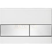 Кнопка смыва TECE Square белое cтекло кнопки сатин