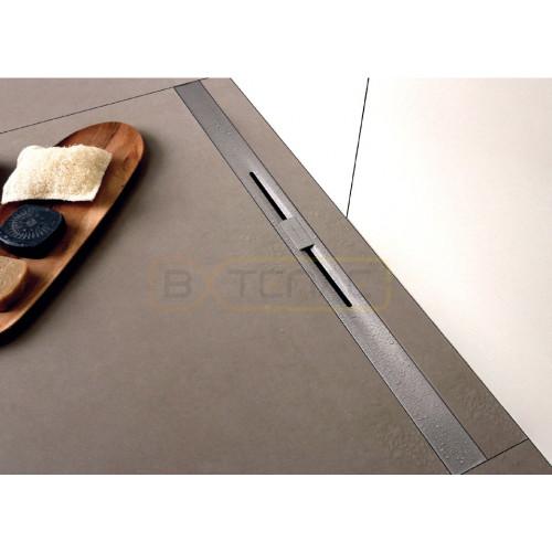 Душевой лоток BERGES SIMPEL 600, матовый хром, вертикальный выпуск S-сифон D50/105мм H30/80мм