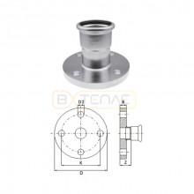 Фланец Press KAN-Therm Inox, нержавеющая сталь 76,1 мм