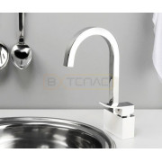Смеситель WasserKRAFT Aller 1067WHITE для кухни, комбинированное покрытие, 1067WHITE