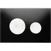 Кнопка смыва TECE Loop черное стекло кнопки белые