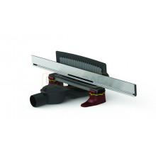 Душевой лоток BERGES WALL 1000 пристенный, матовый хром,боковой выпуск S-сифон D50 H60
