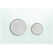 Кнопка смыва TECE Loop зеленое стекло кнопки матовый хром