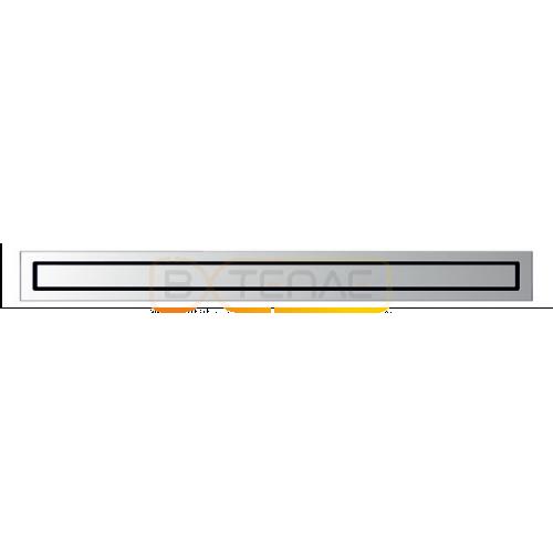 Душевой лоток BERGES TOP Stark 600, матовый хром, боковой выпуск S-сифон D50 H60