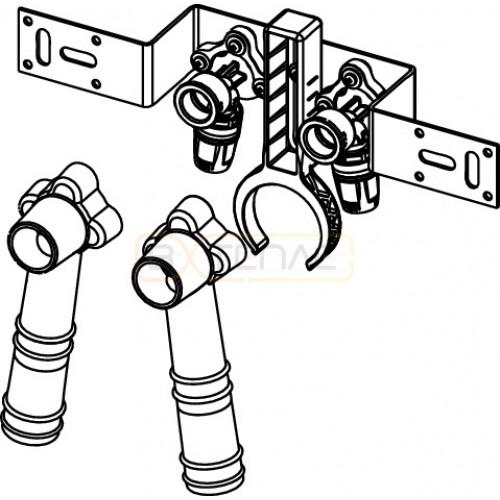 """Монтажный комплект TECElogo Push-fit для дистанционного подключения смесителя 16 x 1/2"""", бронза"""