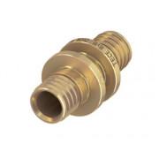 Соединение труба-труба латунь 20 x 20 мм, 706020