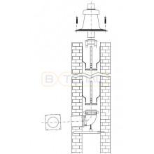 Базовая комплектация системы дымоудаления Buderus в каскаде для шахты D 160