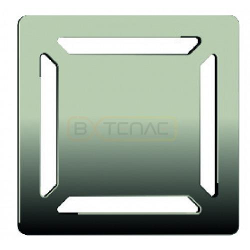 Душевой трап BERGES ZENTRUM Norma 100х100, матовый хром, боковой выпуск сифон D50 H65