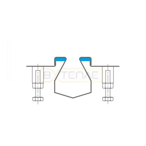 Дренажный лоток с заполнением полостей для лучшей гигиены BASIKA SR 20