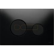 Кнопка смыва TECE Loop черное стекло кнопки черные