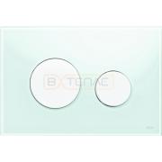 Кнопка смыва TECE Loop зеленое стекло кнопки белые