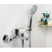 Смеситель WasserKRAFT Lippe 4501 для ванны с коротким изливом, хром, 4501