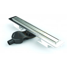 Душевой лоток BERGES В1 Antik 600, матовый хром, боковой выпуск S-сифон D50 H60