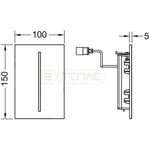 Кнопка смыва TECE Filo Urinal 220/12 В белая