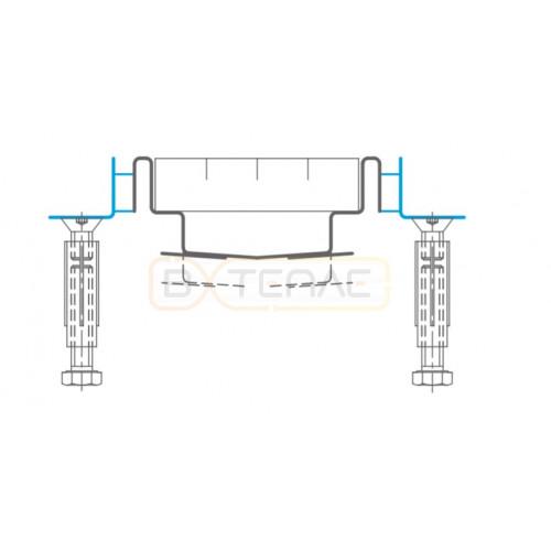 Дренажный лоток с уголком для примыкания к плитке по периметру BASIKA KRS