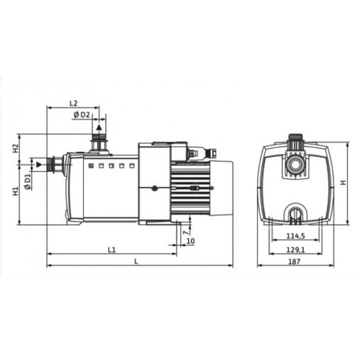 Насосная станция с многоступенчатым насосом Wilo HiMulti 3-25 P
