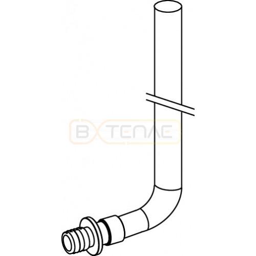 Монтажная трубка TECEflex для радиатора конечная, 16 x 15 x 300 мм