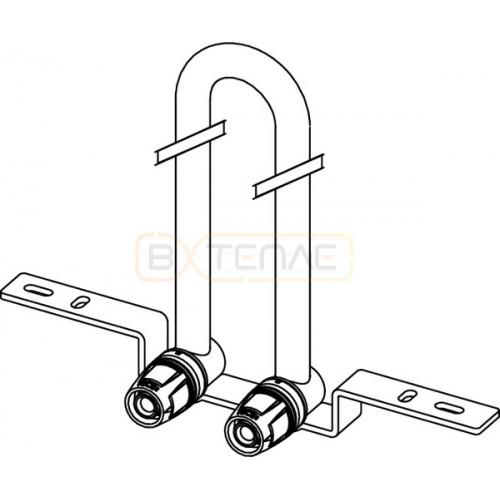 Монтажный узел TECElogo Push-fit для радиатора, настенный