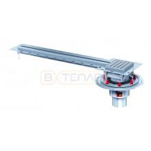 Дренажный лоток с уголком для примыкания к плитке по периметру BASIKA SR 20