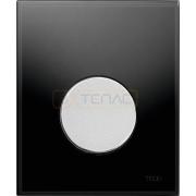 Кнопка смыва TECE Loop Urinal черное стекло, кнопка матовый хром, 9242655