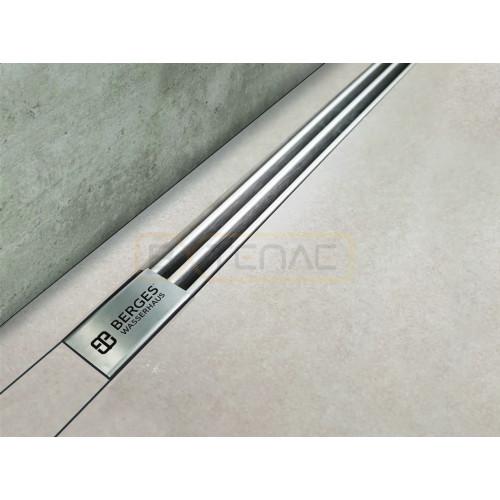 Душевой лоток BERGES SUPER Slim 1000, матовый хром, боковой выпуск S-сифон D50 H60