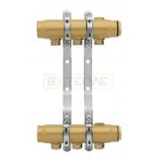 """Коллектор для отопления KAN‑Therm стальной 1 1/4"""" с ниппелями (серия 20) - 2 контура, S20020"""