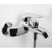 Смеситель WasserKRAFT Rossel 2801 для ванны с коротким изливом, хром, 2801