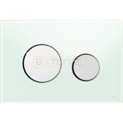 Кнопка смыва TECE Loop зеленое стекло кнопки хром