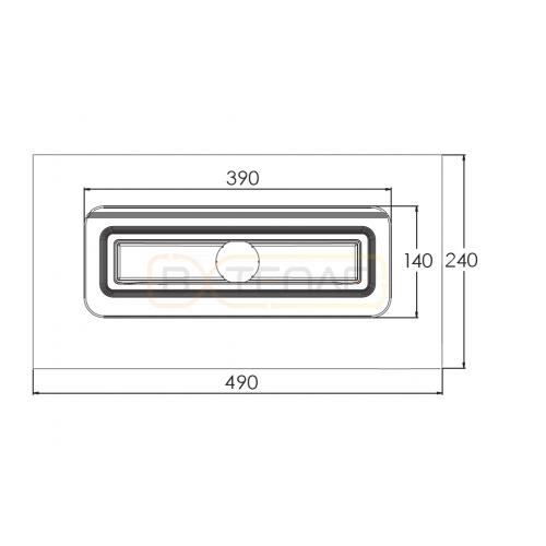 Душевой лоток BERGES SIMPEL 1000, хром глянец, боковой выпуск S-сифон D50 H60