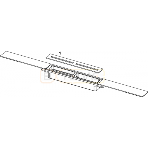 Душевой лоток TECE TECEdrainprofile 1000 мм глянцевый