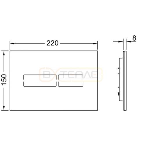 Сенсорная кнопка смыва TECE Lux mini черное стекло 9240961